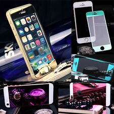 Cool Tempered glass Film and Back mirror Sticker Screen Protector for iPhone5 5S