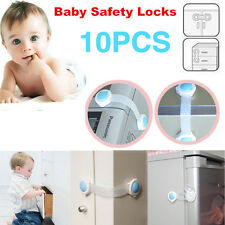 10PCS Child Kids Infant Safety Cabinet Cupboard Door Fridge Wardrobe Drawer Lock