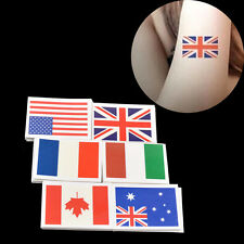 10Pcs Flag Pattern Waterproof Temporary Tattoo Face Hand Body Stickers Removable