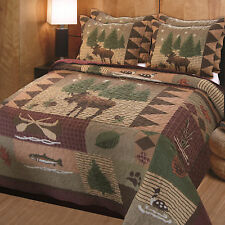 Greenland Home Moose Lodge Quilt & Sham Set, Twin, Full/Queen Or King