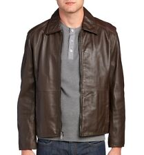 Marc New York Andrew Marc Men's Sherman Brown Leather Jacket $550 msrp NWT