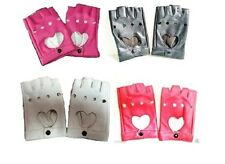Womens  Faux Leather Fingerless Driving Gloves Punk Motorcycle Choice of Colors