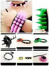Spike Cone Wristband Choker Punk Skull Rivet Goth Necklace Stud Collar Bracelet