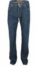 Jacob Cohen Men's Dark Blue Cotton Classic Jeans, sizes 34, 40