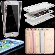 Ultra thin transparent Clear Soft TPU Front Back Case Cover Fits Apple, Samsung