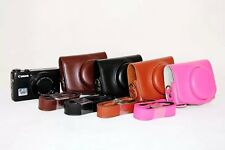 New Retro Vintage Leather Camera case bag Cover for Canon Powershot G7X G7 X