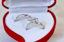 1.8 CT Round cut Diamond Solitaire Engagement Ring Solid In Sterling Silver