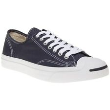 New Mens Converse Jack Purcell Blue Canvas Ox Trainers Lace Up