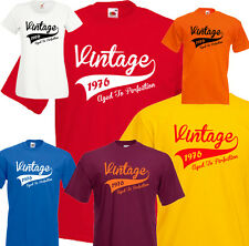 Vintage 40th Birthday T-shirt Tee *Any Year* 1976 1977 1978 Present Gift S-5XL