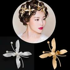 Women Wedding Bride Butterfly Flower Pearl Hair Clip Hairpin Clamp Gift