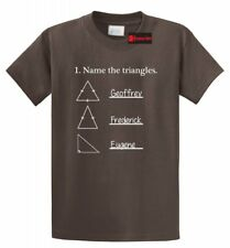 Name The Triangles Funny Math T Shirt Geometry Quiz College Teacher Tee