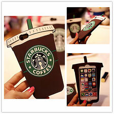 3D Starbucks Coffee Cup Soft Silicone Cover Case For iPhone 4s 5S 5C 6s+ Samsung