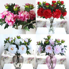 2 Heads Artificial Silk Peony Flowers Bridal Hydrangea Party Wedding Decor Home