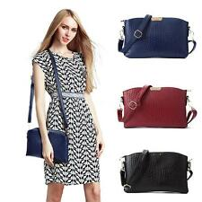 Women Shoulder Crossbody Bag PU Leather Handbag Lady Satchel Tote Fashion V3K6