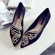2018 Fashion Womens Casual Ballet Shoes Slip On Flats Loafers Butterfly Shoes
