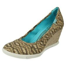 Ladies Keds Wedge Shoes Label Wedge Skimmer Animal