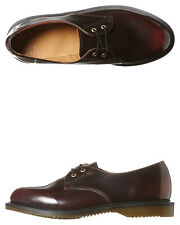 New Dr. Martens Women's Womens Brook 2 Eye Shoe Leather Womens Shoes Red