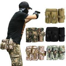 Outdoor Military Waist Bag Fanny Pack Water Bottle Holder Camping Hiking Running
