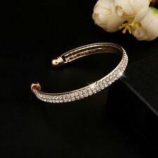 Fashion Gold/Silver Crystal Rhinestone Bangle Cuff Bracelet Women Hot Jewellery