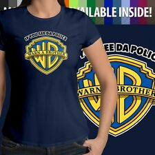 If You See Da Police Warn A Brother Parody Womens Juniors Top Tee Crew T-Shirt