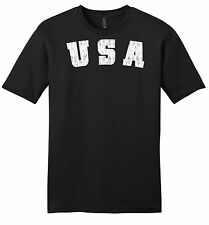 Distressed USA Mens Soft T Shirt American Pride Patriotic Home Gift Tee Z2