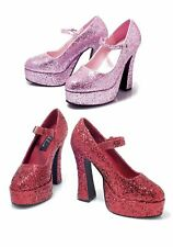 Ellie Shoes 557-EDEN-G 5'' Chunky Heel Mary Jane Women's Size Shoe With Glitter