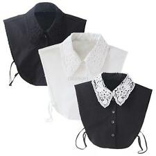 Women Lady Fashion Lace White/Black Vintage Detachable Shirt Collar Necklace New