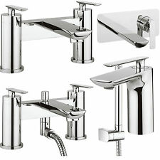 CROSSWATER SILK TAPS BATHROOM CHROME BASIN MIXER SINK BATH FILLER SHOWER LEVER