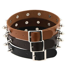 New Punk Women Chic Gothic Leather Choker Heart Spike Rivet Collar Necklace Gift