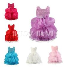 Flower Girl Kid Toddler Princess Ruffle Layers Party Tulle Tutu Dress Skirt 2-7Y