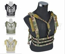 Nylon Tactical Chest Rig Vest Harness Strap with QD Sling Airsoft Paintball Game