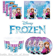 Disney FROZEN Princess Birthday Party Tableware Plates Napkins Cups Tablecover