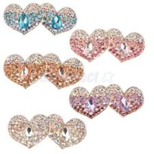 Fashion Rhinestone Heart Spring Hair Clip Hairpin Barrette Bridal Accessory