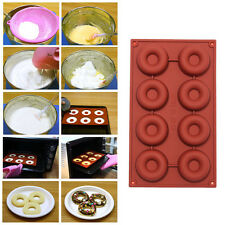 8/18 Cavity Donut Doughnut Baking Mold Cake Chocolate Candy  Soap Silicone Mould
