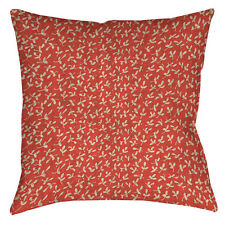 Manual Woodworkers & Weavers Dream Big Ditsy Florals Printed Throw Pillow