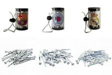 Wooden Golf Tees & Shaker - Official Football Clubs Golfing Tees - Golfing Gifts
