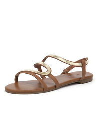 New I Love Billy Olour Tan/Gold Women Shoes Casuals Flats Sandals