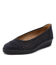 New Gabor Wadi Night Blue Women Shoes Casuals Wedges Heels