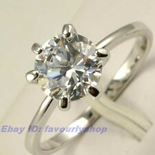 6,7,8,9# SOLITAIRE RING 1.25ct CZ CLASSICAL 6CLAW 18K WHITE GOLD PLATED GP 5705r
