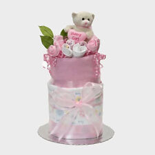 NEW Baby Gift Hampers Baby Girl Snuggles Nappy Cake