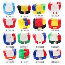 ANSELF Flag Football Soccer Fans Wig Head Cap European Cup FIFA World Cup Q8W8
