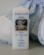 Personalised Square New Baby Candle - perfect keepsake gift