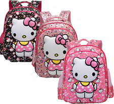 Baby Girls Middle size Cartoon Hello kitty 3D Backpack Schoolbag Shoulder Bag