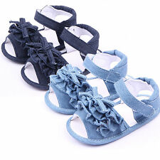 Newborn Baby Infant Toddler Soft Sole Shoes Girls Boys Pram Sandals Slippers New