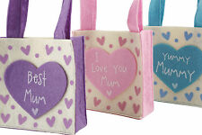 Mum  Mummy Felt Gift Bag Mothers Day Birthday Felt Bag Perfect for Small Gifts,