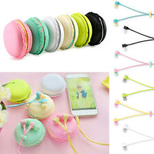 New 3.5mm In Ear Headphone Earphone Earbud Headset With Macaron Carry Case