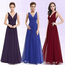 Women Long Cocktail Evening Party Prom Ball Wedding Bridesmaid Formal Gown Dress