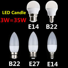 E27 E14 B22 3W SMD LED Globe Bulb Candle Room Warm/Day White Spot Light Lamp