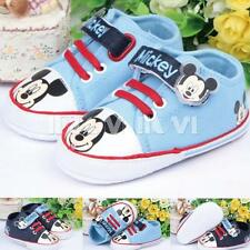 Mickey Mouse Baby Boy Infant Trainers Prewalker Sneakers Crib Pram Shoes 3-12M