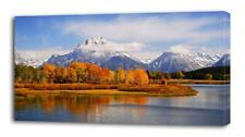 4 Sizes - Mountain Forest CANVAS PRINT Wall Decor Art Giclee Nature View Scenery